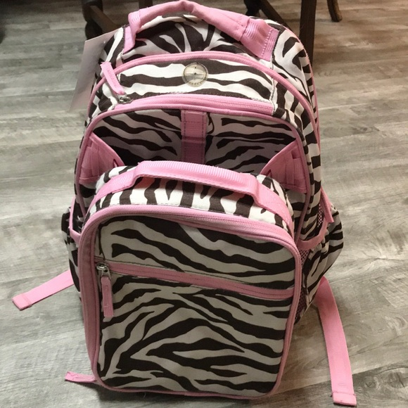 Pottery Barn Kids Accessories Zebra Print Backpack Lunch